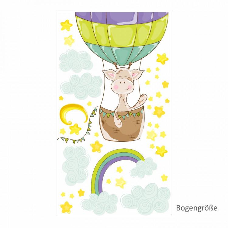 nikima - 077 Wandtattoo Giraffe Ballon Kinderzimmer Luftballon Sticker Aufkleber