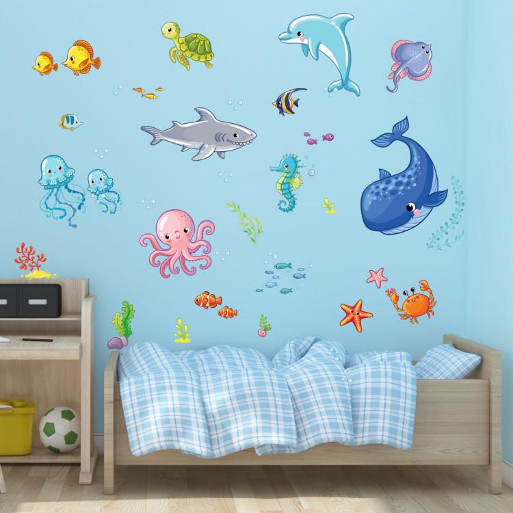 078 wandtattoo wasserwelten kinderzimmer wal. Black Bedroom Furniture Sets. Home Design Ideas