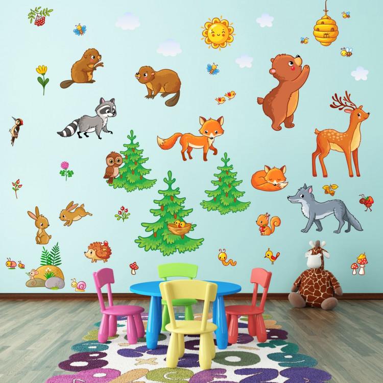 Tolle kinderzimmer fuchs bilder die kinderzimmer design for Wandtattoo kinderzimmer waldtiere