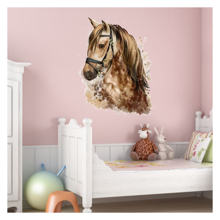 nikima 077 wandtattoo giraffe ballon kinderzimmer. Black Bedroom Furniture Sets. Home Design Ideas