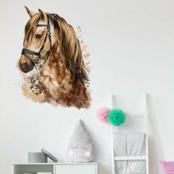 nikima - 085 Wandtattoo Pferd Kopf braun Kinderzimmer Sticker Aufkleber