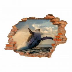 nikima - 096 Wandtattoo Buckelwal Meer - Loch in der Wand
