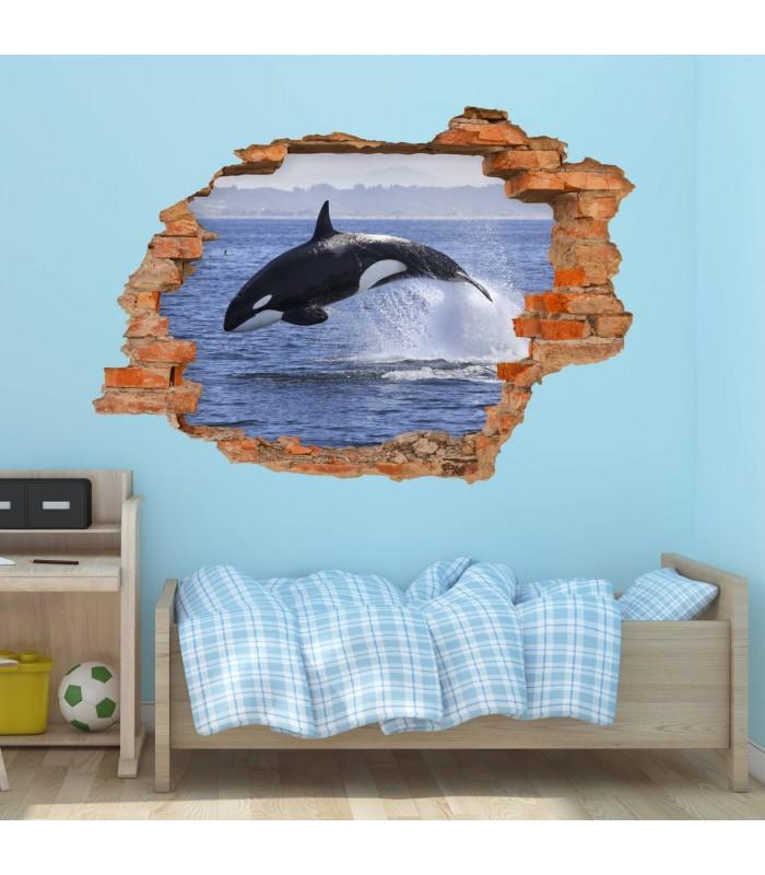 102 wandtattoo orca killerwal schwertwal loch in der wand - Loch in der wand ...