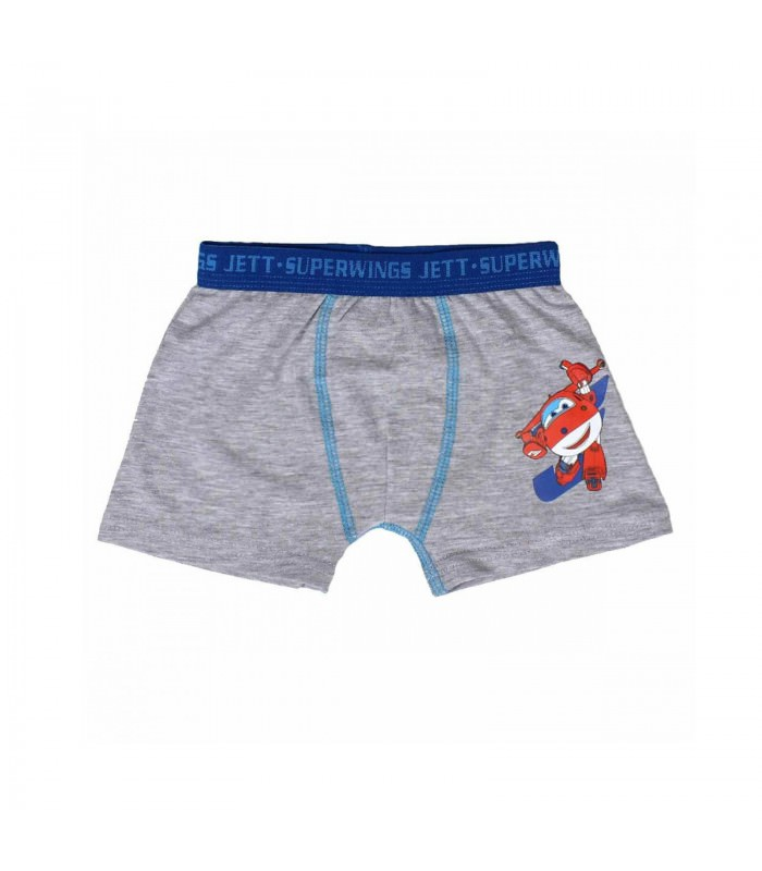 Super Wings - 2er Set Kinder Boxershorts Gr. 98 - 128 - blau/grau