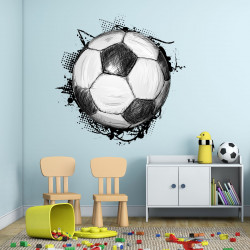 nikima - 109 Wandtattoo Fussball Soccer in 6 vers. Größen