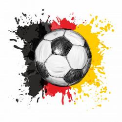 nikima - 110 Wandtattoo Fussball Deutschland Fahne Flagge schwarz rot gold