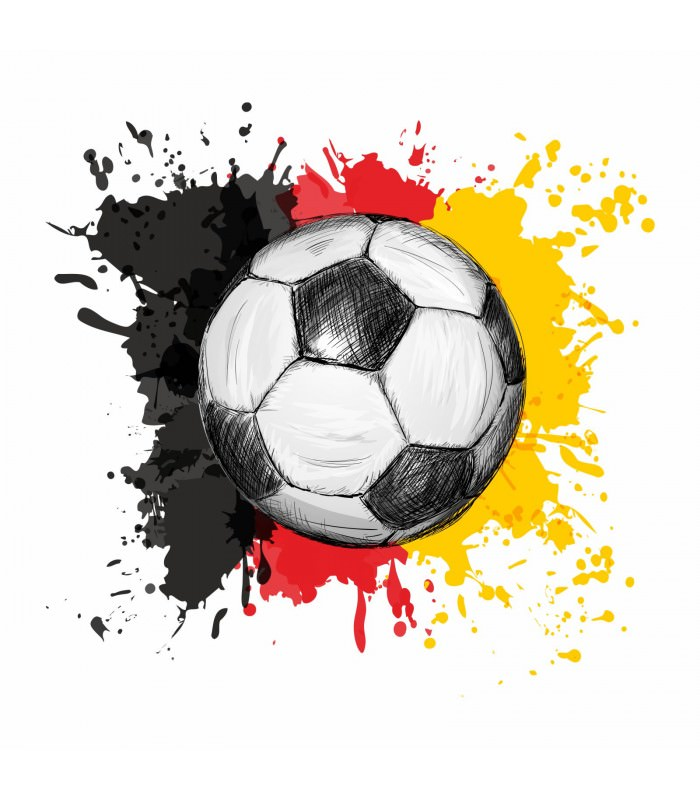nikima 110 wandtattoo fussball deutschland fahne flagge schwarz rot gold. Black Bedroom Furniture Sets. Home Design Ideas
