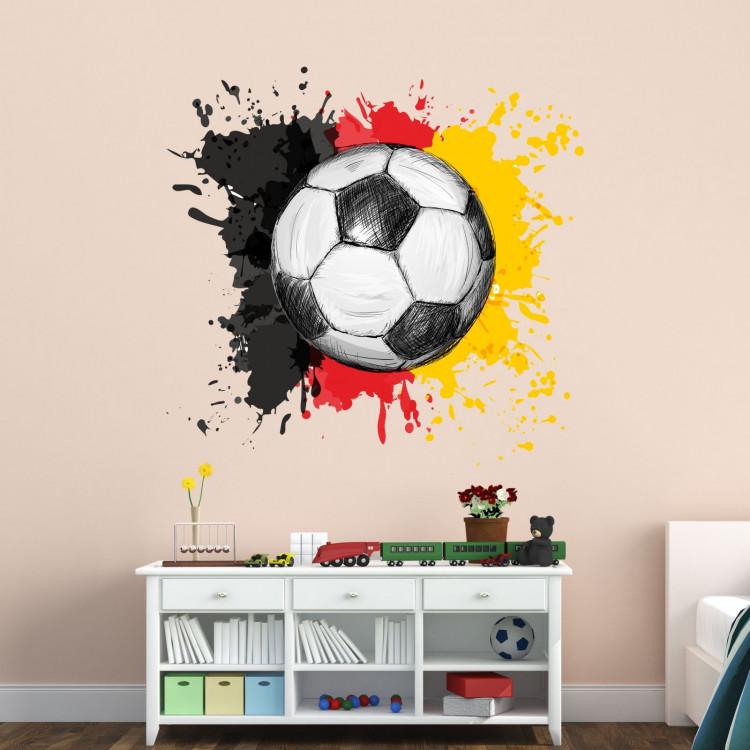 nikima 110 wandtattoo fussball deutschland fahne flagge schwarz rot gold. Black Bedroom Furniture Sets. Home Design Ideas