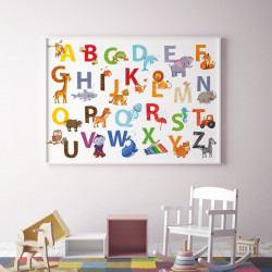 Kinder Tier ABC Poster