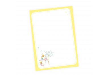 A6 Notizblock Einhorn Pusteblume gelb - 50 Blatt to do Liste Einkaufszettel Planer