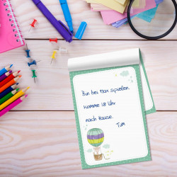 SET 4 Notizblöcke A6 Meerjungfrau, Einhorn, Flamingo, Giraffe - Einkaufszettel Planer to do Liste Mädchen