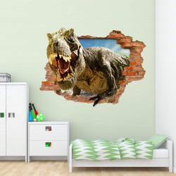 nikima - 116 Wandtattoo T-Rex Dinosaurier Tyrannosaurus Rex - Loch in der Wand