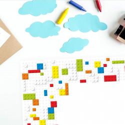 A2 Schreibtischunterlage Legosteine Bausteine bunt