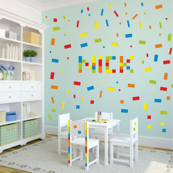 nikima - 130 Wandtattoo Lego-Steine - 146 Stück*