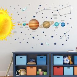 133 Wandtattoo Sonnensystem Planeten