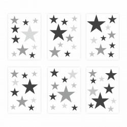 129 Wandtattoo Sterne-Set lila 60 Stück