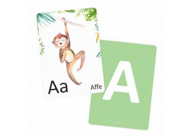 Buchstabenkarte - A wie Affe