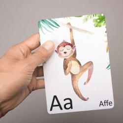 Buchstabenkarte A wie Affe