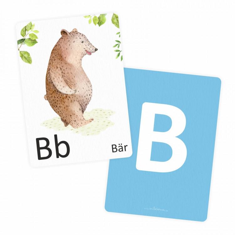 Buchstabenkarte B wie Bär