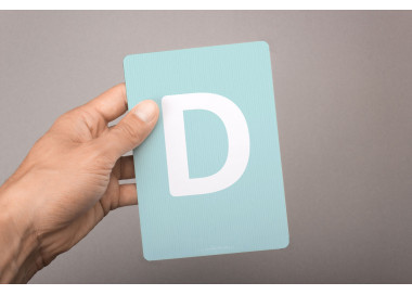 Buchstabenkarte - D wie Delfin