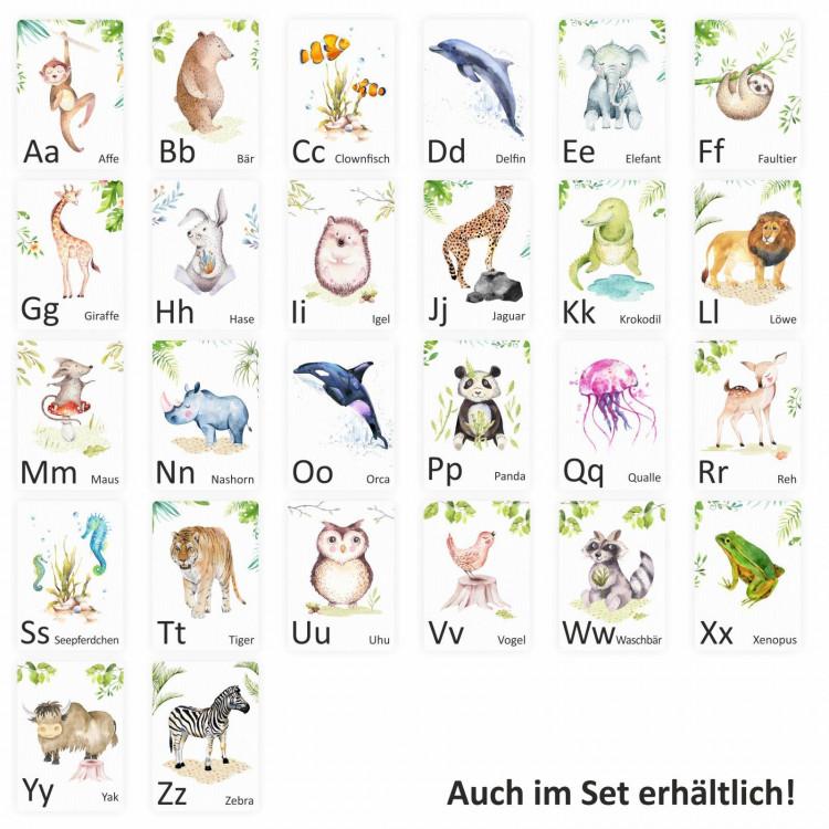 Buchstabenkarte - E wie Elefant