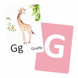 Buchstabenkarte - G wie Giraffe
