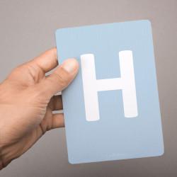 Buchstabenkarte - H wie Hase