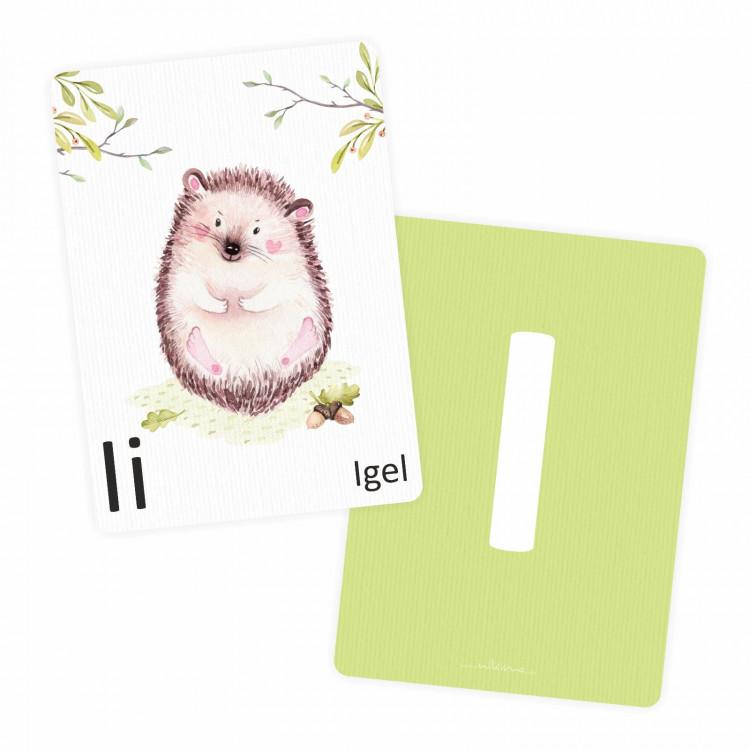 Buchstabenkarte - I wie Igel