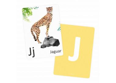 Buchstabenkarte - J wie Jaguar