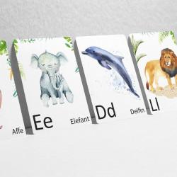 Buchstabenkarte - K wie Krokodil