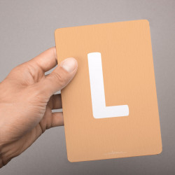 Buchstabenkarte - L wie Löwe
