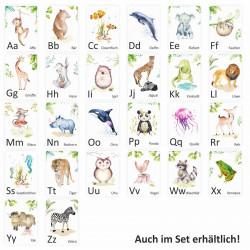 Buchstabenkarte - N wie Nashorn