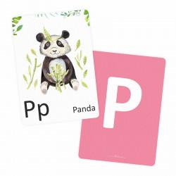 Buchstabenkarte - P wie Panda