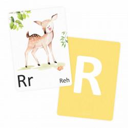 Buchstabenkarte - R wie Reh