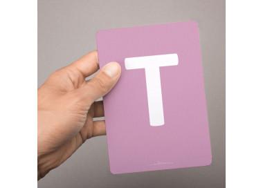 Buchstabenkarte - T wie Tiger