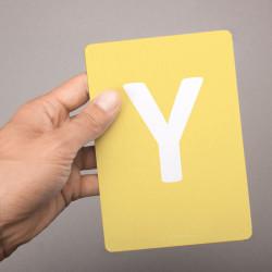 Buchstabenkarte - Y wie Yak