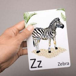 Buchstabenkarte - Z wie Zebra