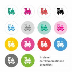 Möbelaufkleber Ordnungssticker für Spielzeug SCHWARZ/ WEISS