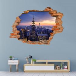 145 Wandtattoo New York Empire State Building - Loch in der Wand