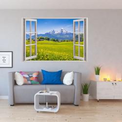 151 Wandtattoo Fenster - Alpen Berge