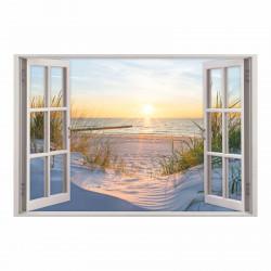 153 Wandtattoo Fenster - Ostseestrand Maritim