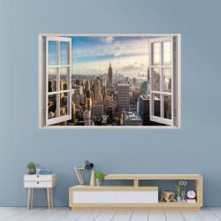 159 Wandtattoo Fenster - New York