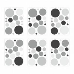 136 Wandtattoo Punkte-Set schwarz 96 Stück