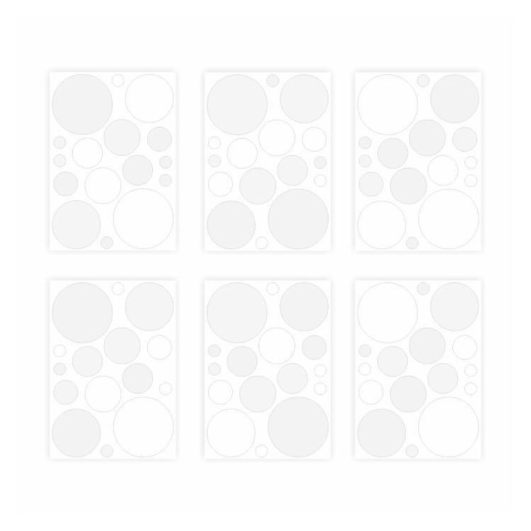 136 Wandtattoo Punkte-Set weiß 96 Stück
