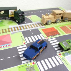 Spielfolie/ Möbelfolie für IKEA TROFAST HOLZ Stadtleben Aufkleber Sticker Kinderzimmer Spieltisch (Möbel nicht inklusive)