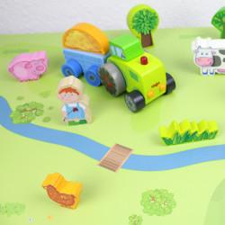 Spielfolie/ Möbelfolie für IKEA TROFAST HOLZ Wald & Wiese Aufkleber Sticker Kinderzimmer Spieltisch (Möbel nicht inklusive)