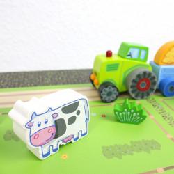 Spielfolie/ Möbelfolie für IKEA TROFAST HOLZ Bauernhof Aufkleber Sticker Kinderzimmer Spieltisch (Möbel nicht inklusive)