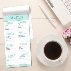 Einkaufsliste mint Einkaufszettel DIN lang Punkte