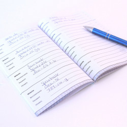 Passwortbuch Loginbuch 48 Seiten mint Notizbuch Organizer