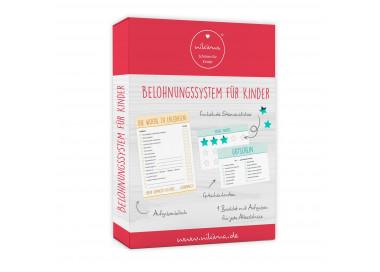 Belohnungssystem für Kinder - 1 Block Aufgabenliste, 25 Gutscheine, 100 Belohnungssticker, 1 Booklet